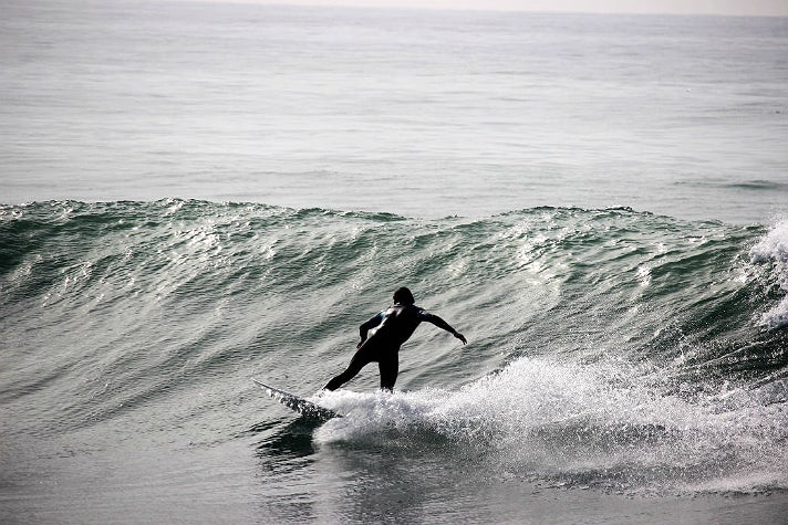 Surfer at County Line